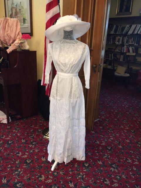 1919 Lawn Dress on display for an LLA Tea. Dress & photo by GraceAnne Kalafut