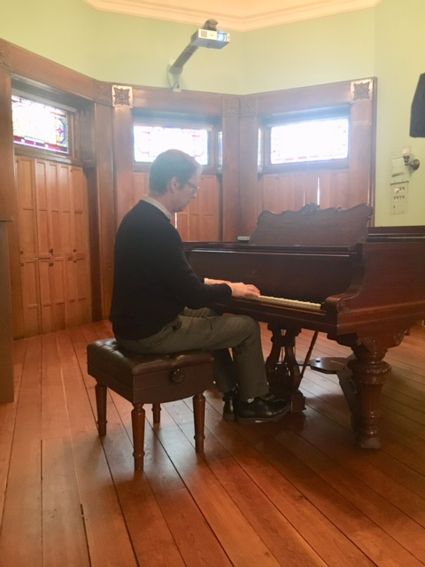 Pierre van der Westhuizen, Director of the Gilmore Keyboard Festival playing our Steinway piano